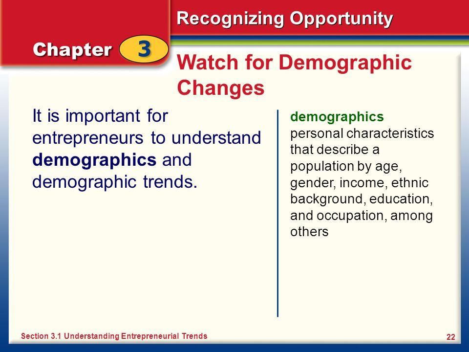 Watch for Demographic Changes