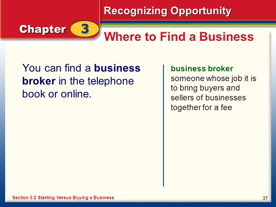 Where to Find a Business