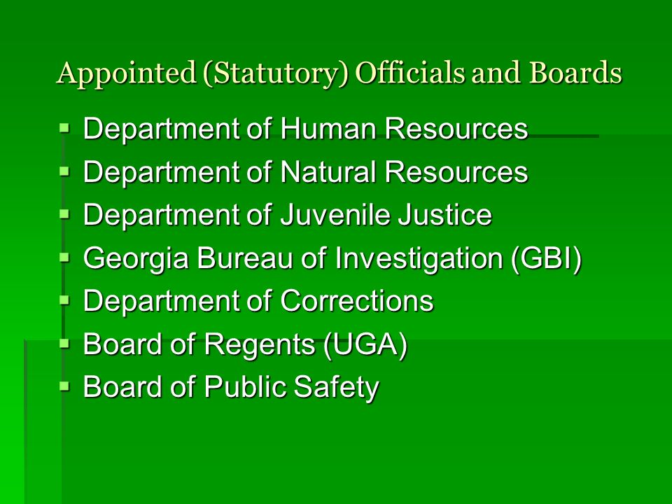 Appointed (Statutory) Officials and Boards
