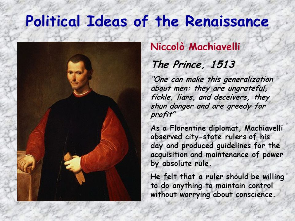 Political Ideas of the Renaissance