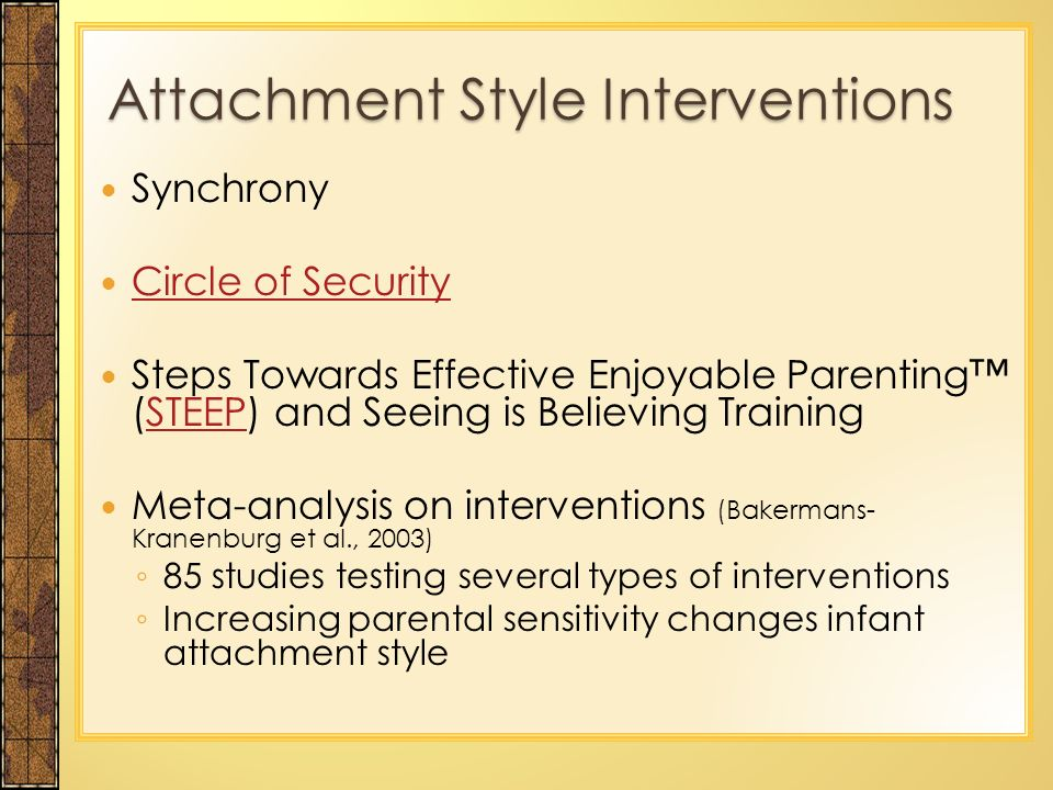 an analysis of the development of attachment and the factors which create a secure attachment Discuss factors that affect attachment security (secure and insecure) apply bronfenbrenner's ecological model to discuss how contextual and ecological factors such as poverty, education, the environment of the home, and poor quality childcare affect child development.