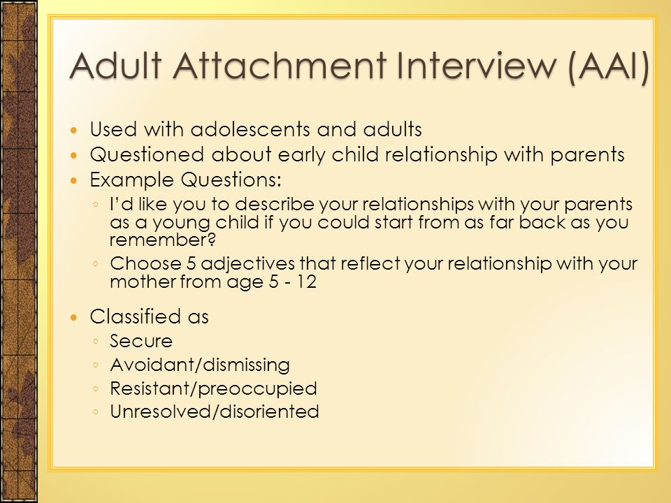 relationship advice and attachment
