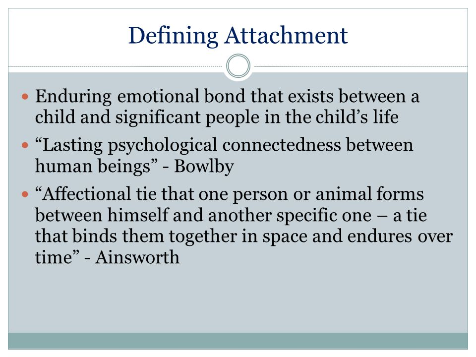 the importance of bonding or attachment in an individuals life While there is strong evidence to support the idea that infant and caregiver attachment is important to humans' ability to form other they form the basis for which people develop relationships later in life share the post the importance of early attachment facebook twitter.