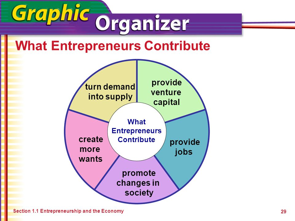 What Entrepreneurs Contribute