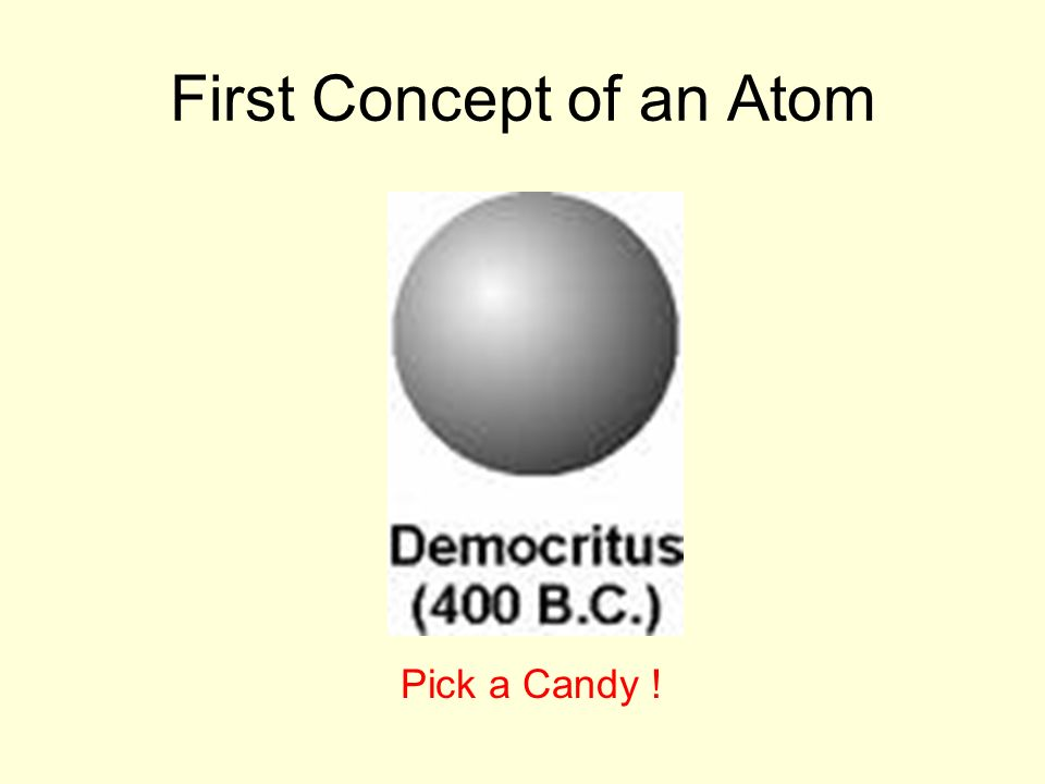First Concept of an Atom