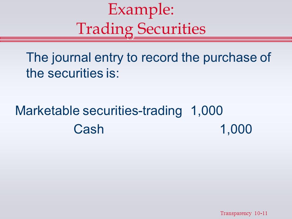 What are Held to Maturity Securities?