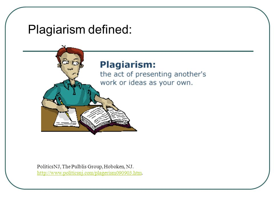 Plagiarism defined: PoliticsNJ, The Pulblis Group, Hoboken, NJ.