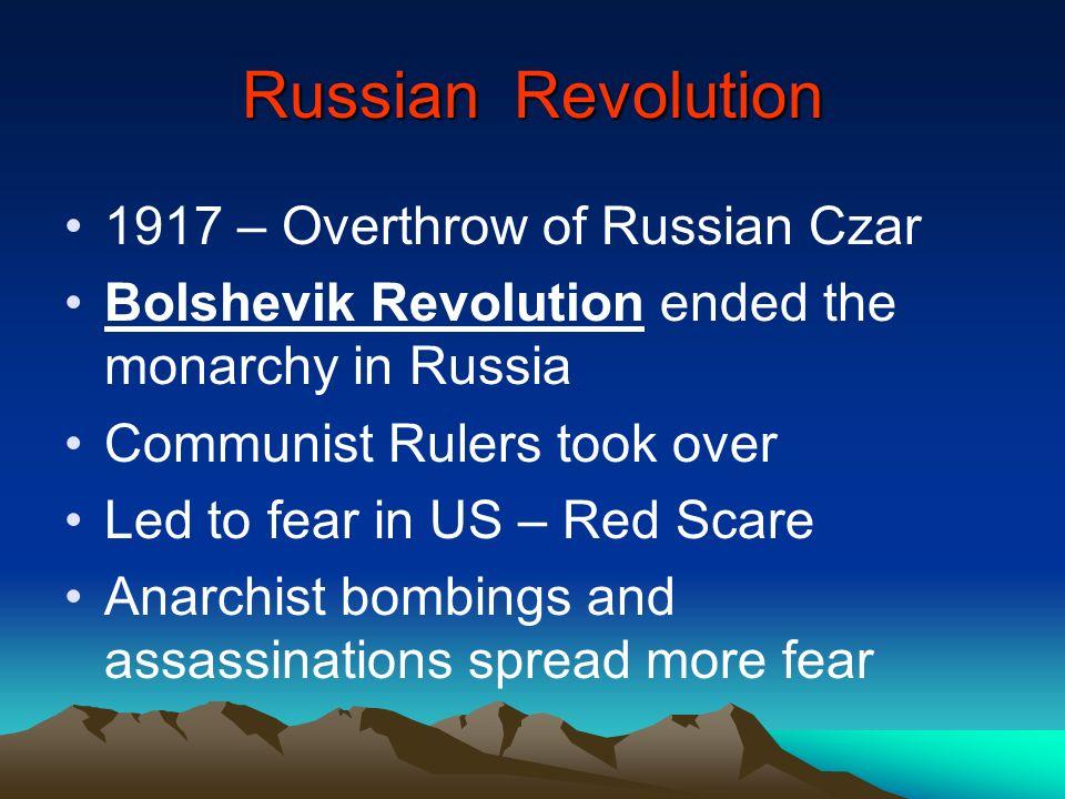 Russian Revolution 1917 – Overthrow of Russian Czar