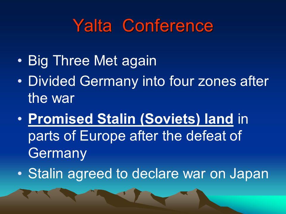 Yalta Conference Big Three Met again
