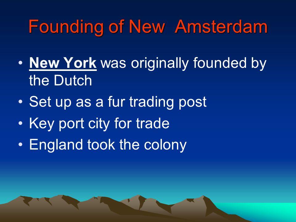 Founding of New Amsterdam