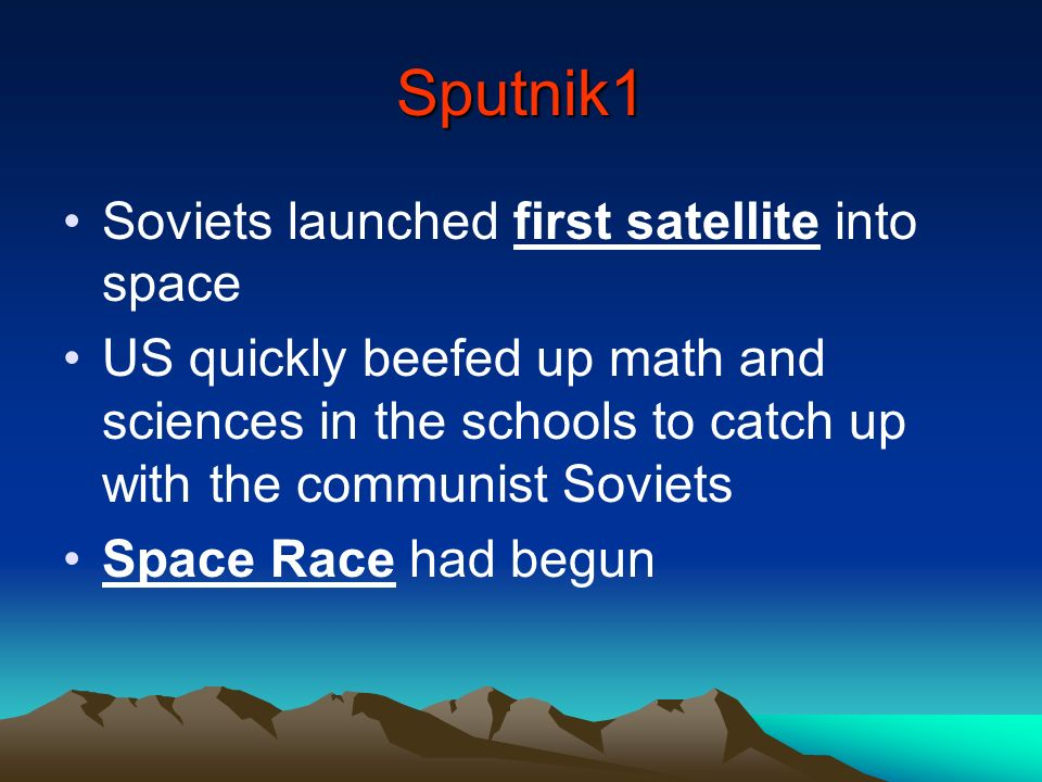 Sputnik1 Soviets launched first satellite into space