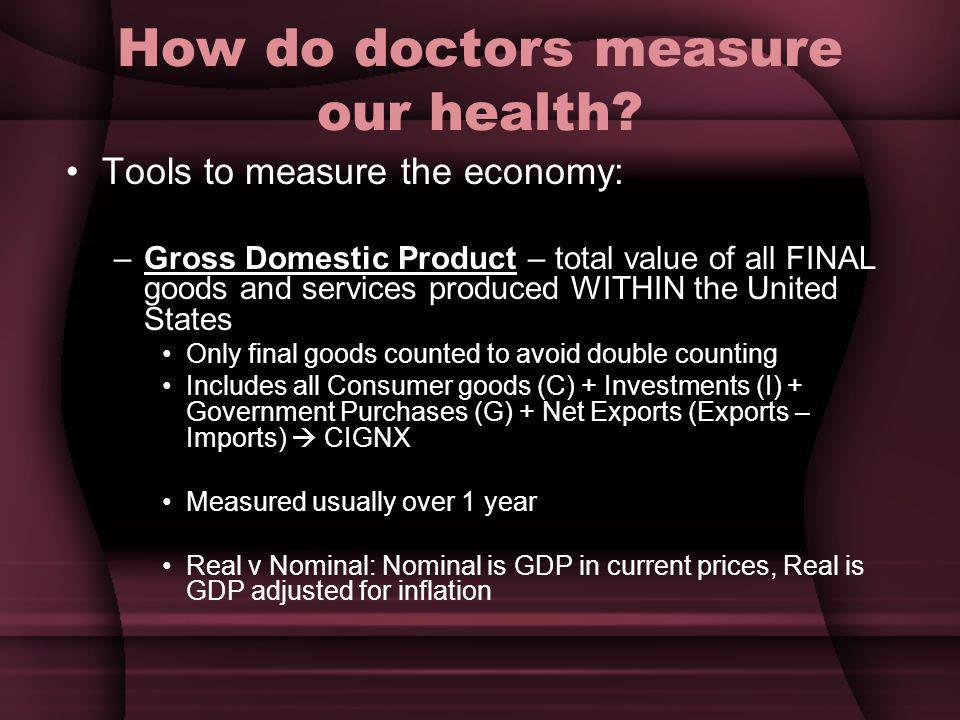 How do doctors measure our health
