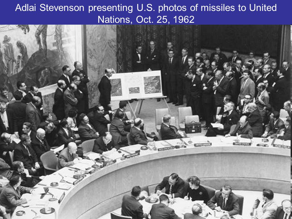 Adlai Stevenson presenting U. S