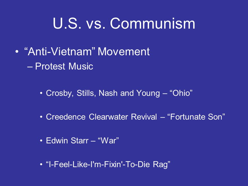 U.S. vs. Communism Anti-Vietnam Movement Protest Music