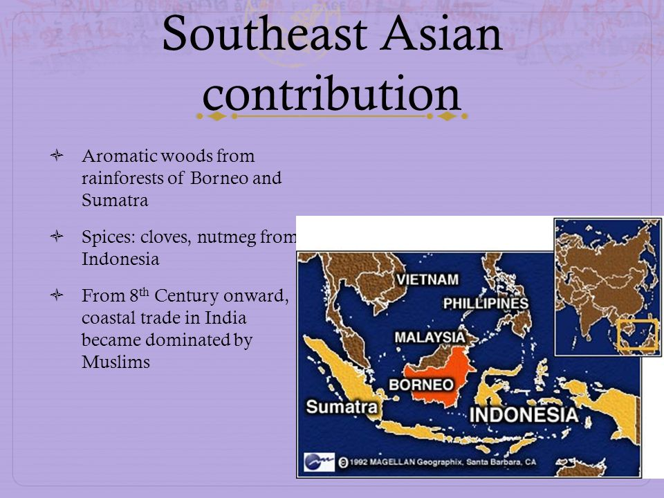 Southeast Asian contribution
