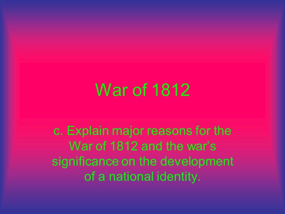 War of 1812 c.