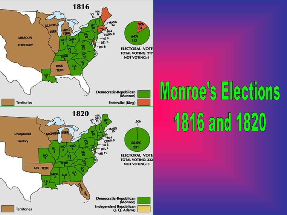Monroe s Elections 1816 and 1820