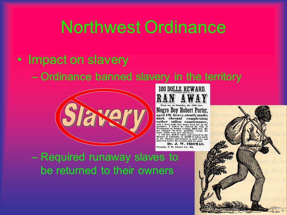 Northwest Ordinance Slavery Impact on slavery