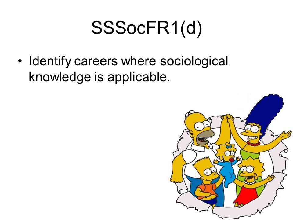 SSSocFR1(d) Identify careers where sociological knowledge is applicable.