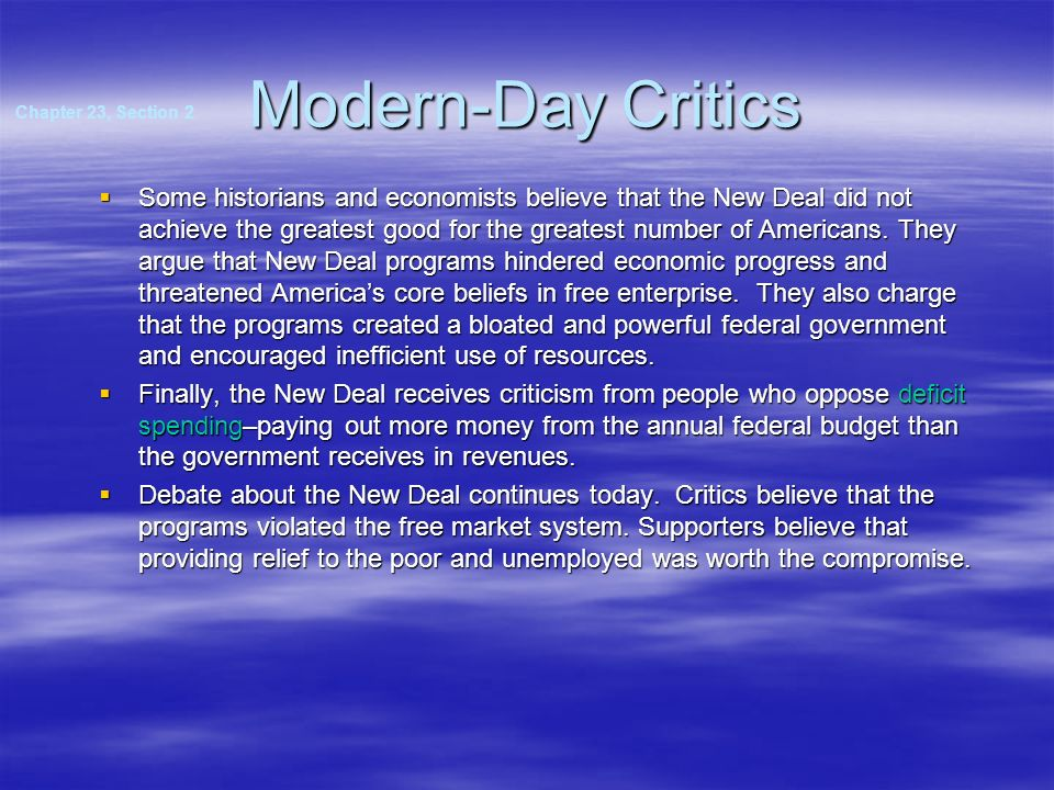 Modern-Day Critics Chapter 23, Section 2.