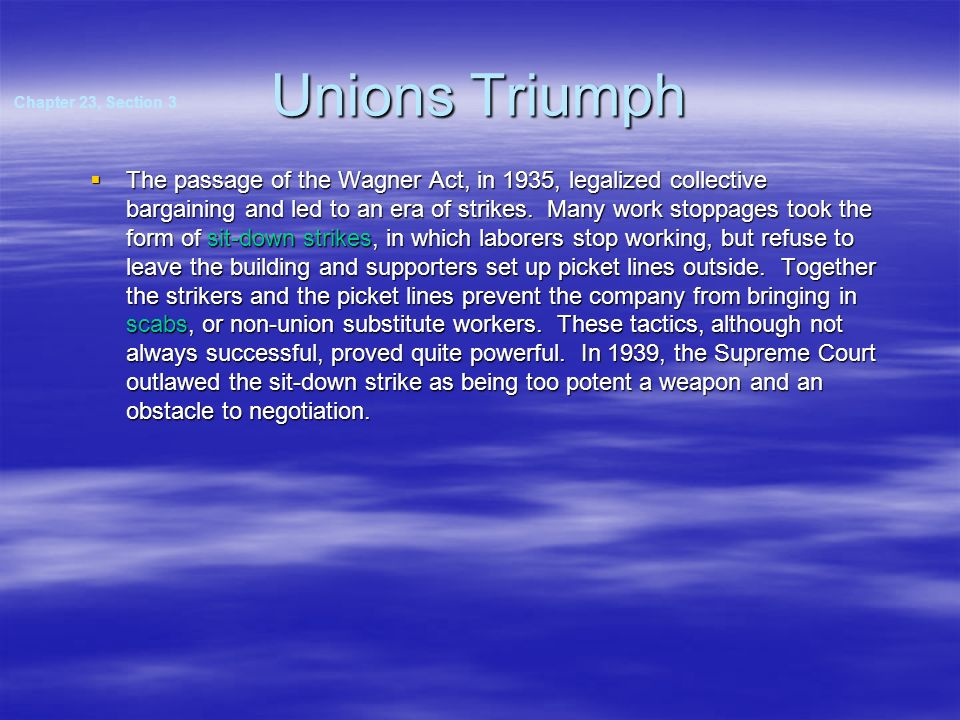 Unions Triumph Chapter 23, Section 3.