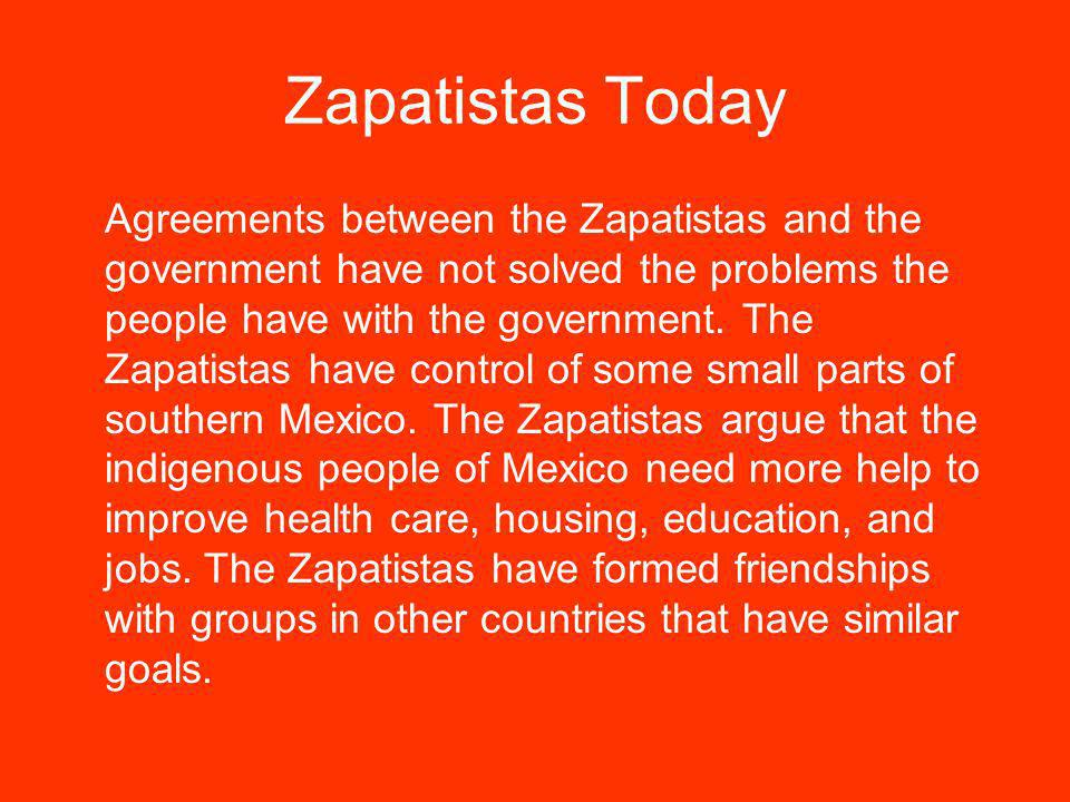 Zapatistas Today