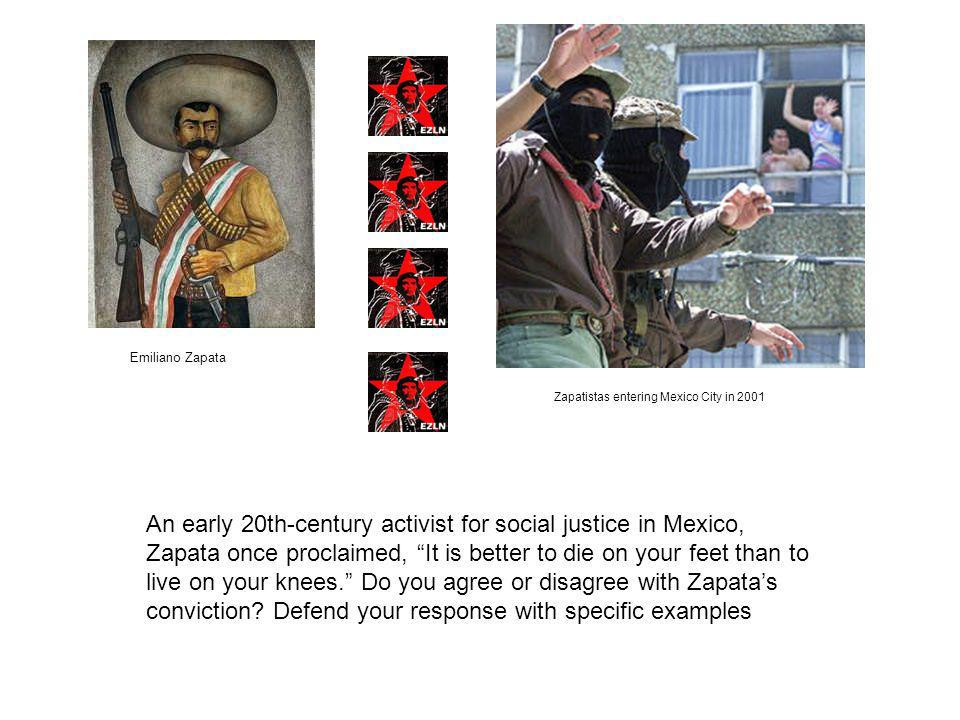 Emiliano Zapata Zapatistas entering Mexico City in 2001.