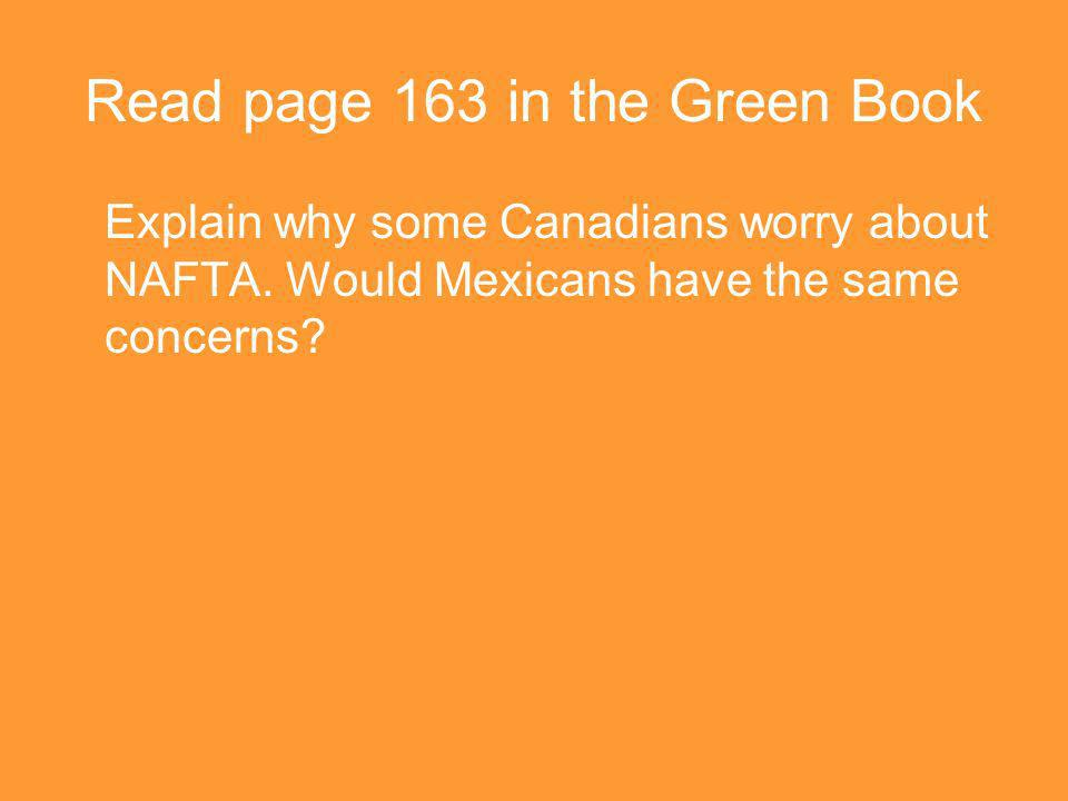 Read page 163 in the Green Book