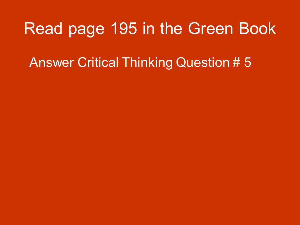 Read page 195 in the Green Book