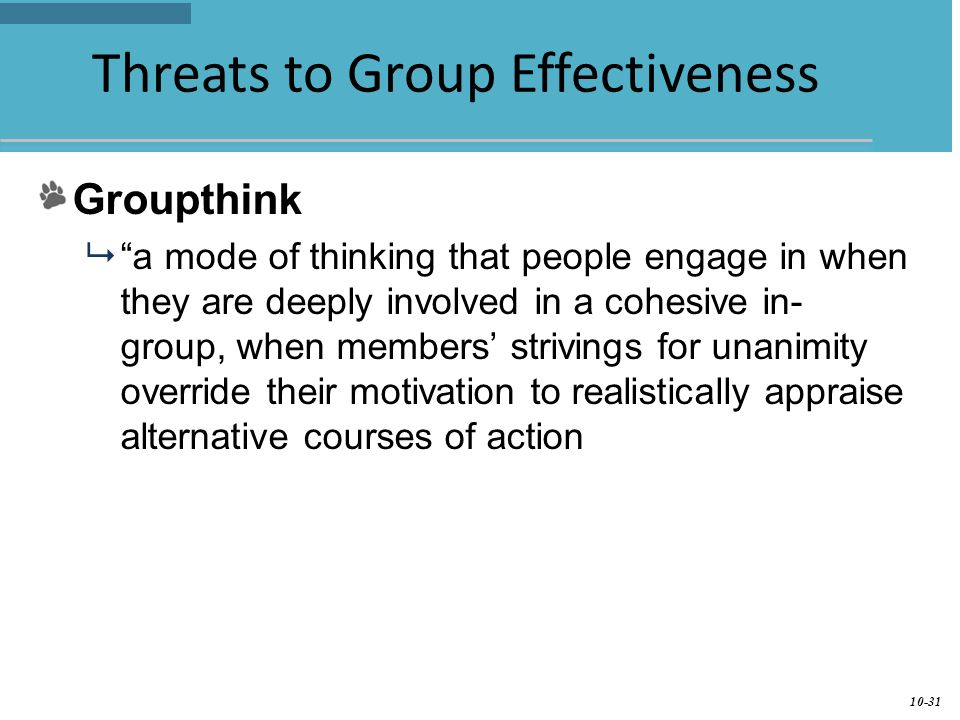 threats to group effectiveness Threats to validity of research design  , and instead take a serious look at the effectiveness and applicability of current and past methods without making false.