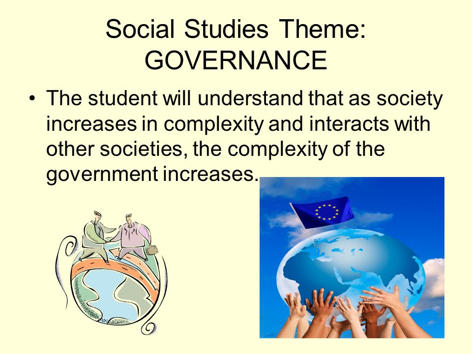 Social Studies Theme: GOVERNANCE