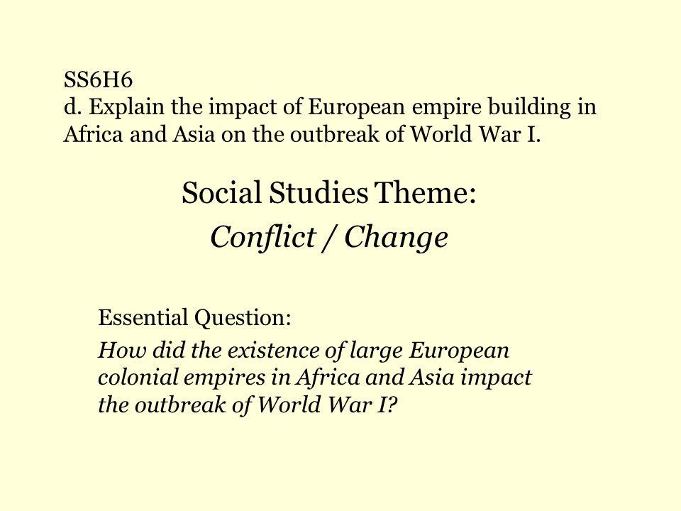 Social Studies Theme: Conflict / Change