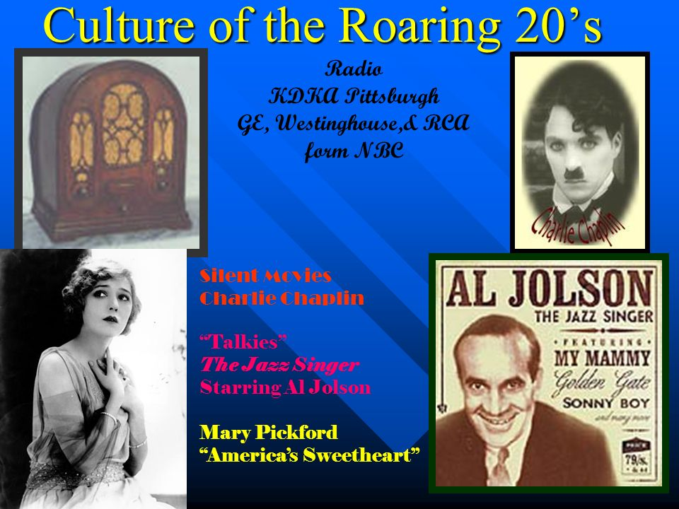 Culture of the Roaring 20's