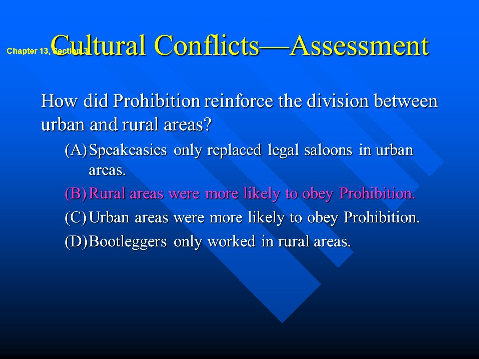 Cultural Conflicts—Assessment