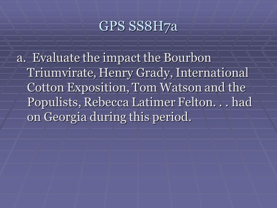 GPS SS8H7a
