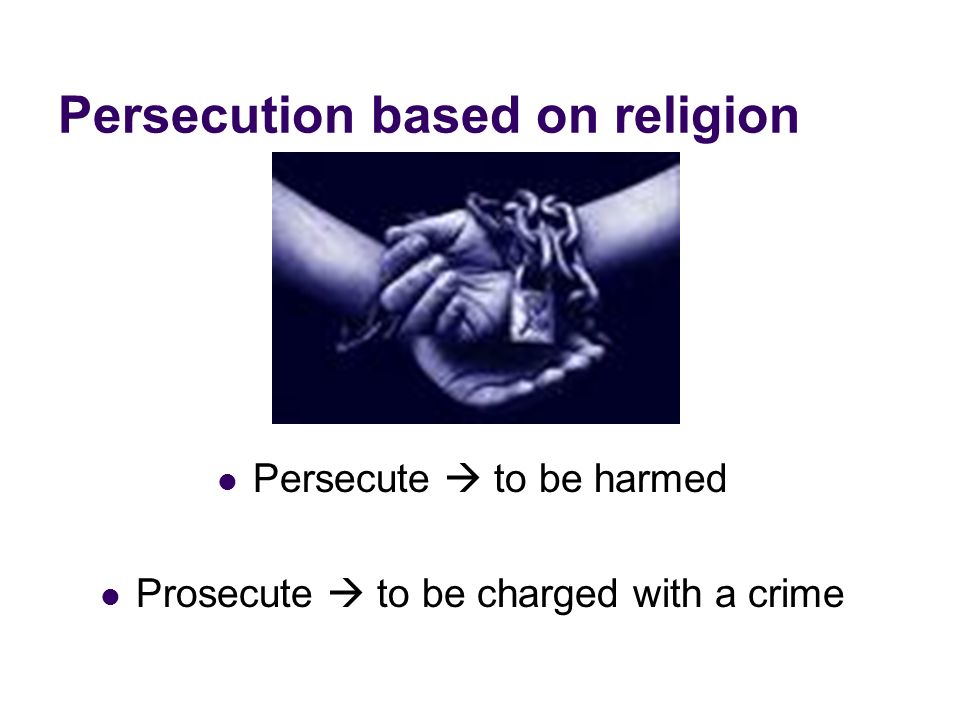 Persecution based on religion