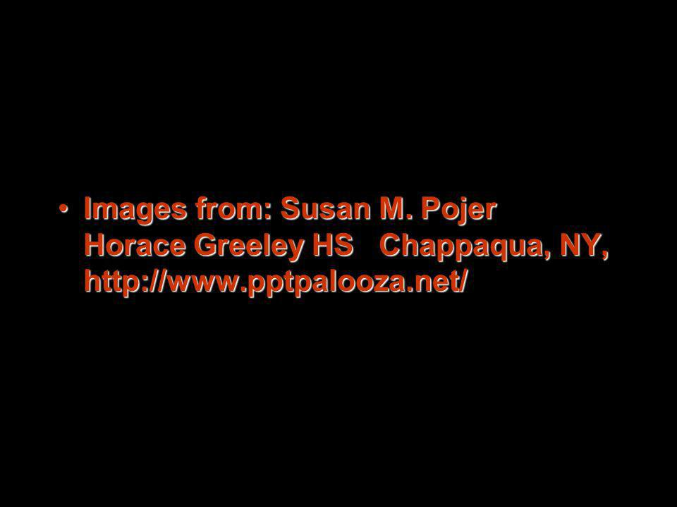 Images from: Susan M. Pojer Horace Greeley HS Chappaqua, NY, http://www.pptpalooza.net/
