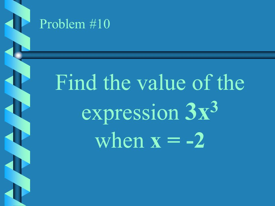 Find the value of the expression 3x3