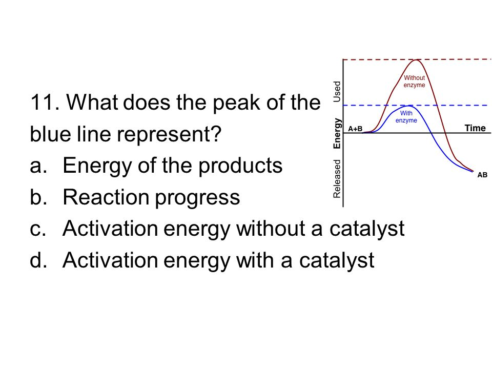 11. What does the peak of the