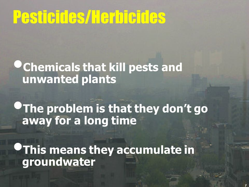 Pesticides/Herbicides