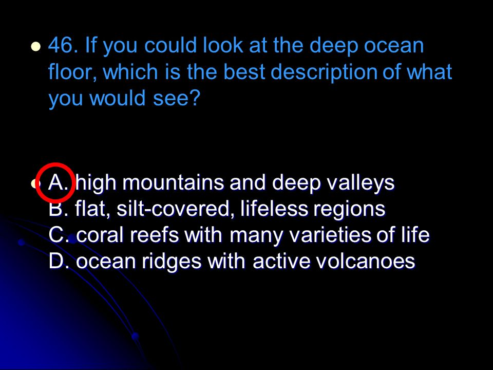 Crct practice atmosphere ocean wind ppt download for Ocean floor description