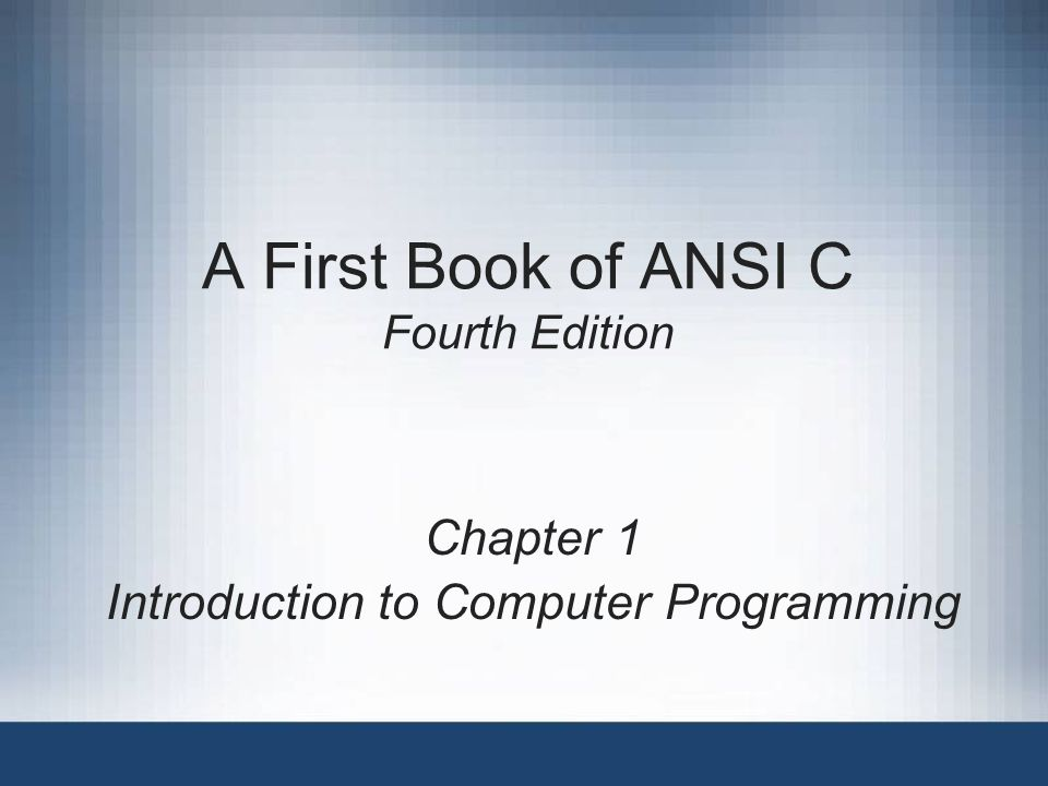A first book of ansi c fourth edition ppt video online Ansi c compiler online