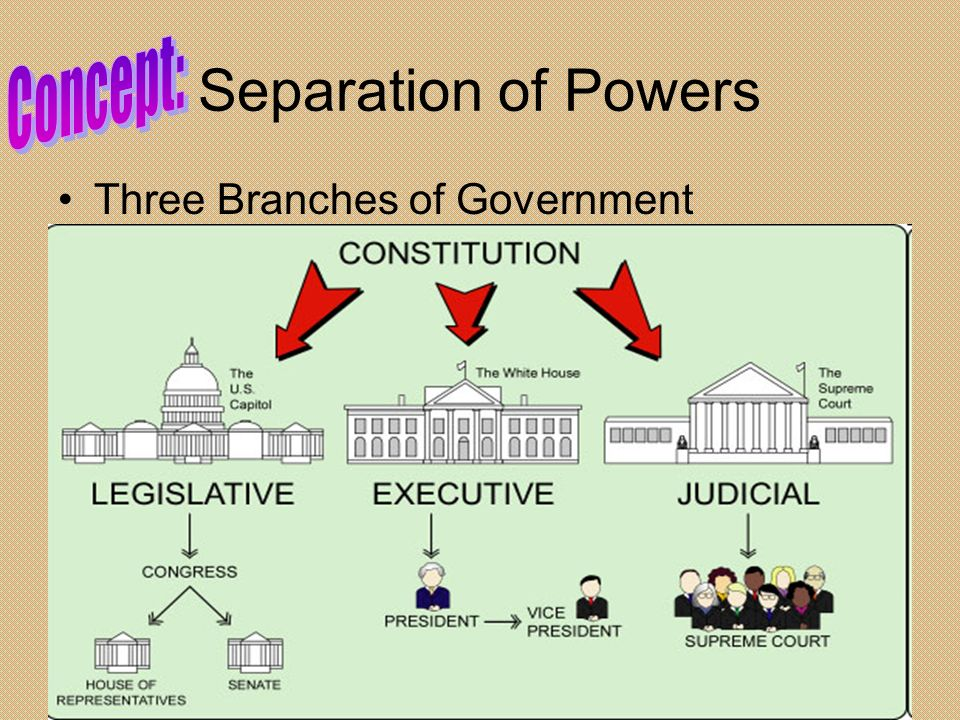 Concept: Separation of Powers Three Branches of Government