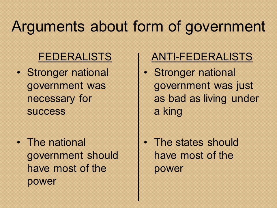 Arguments about form of government