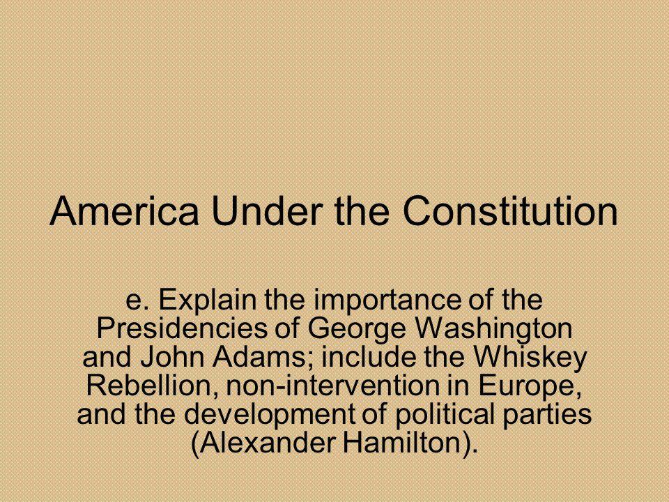 America Under the Constitution