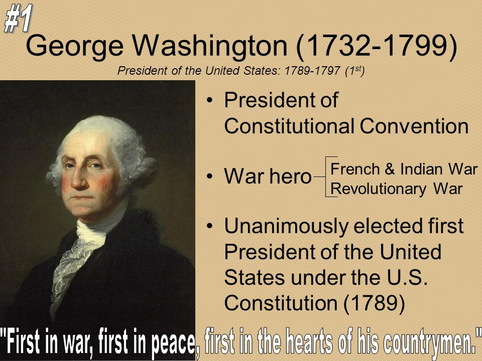 George Washington ( ) #1