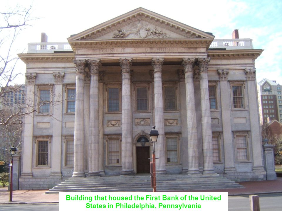 Building that housed the First Bank of the United States in Philadelphia, Pennsylvania