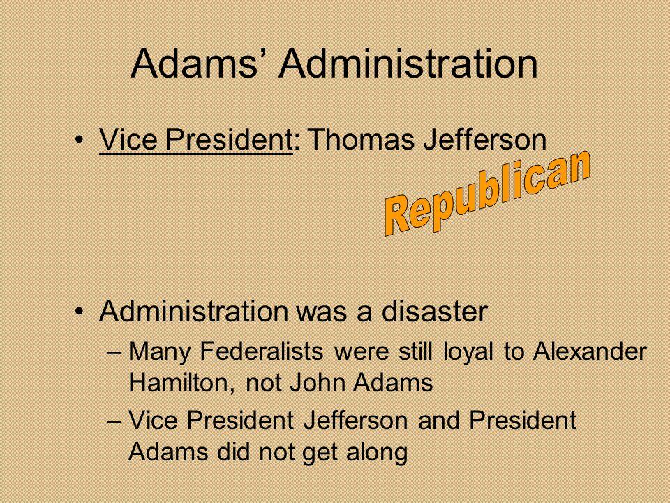 Adams' Administration
