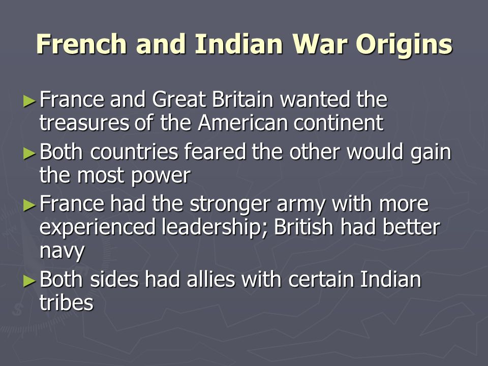 French and Indian War Origins