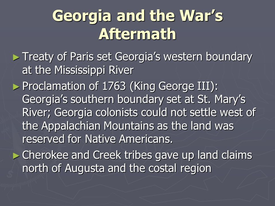 Georgia and the War's Aftermath